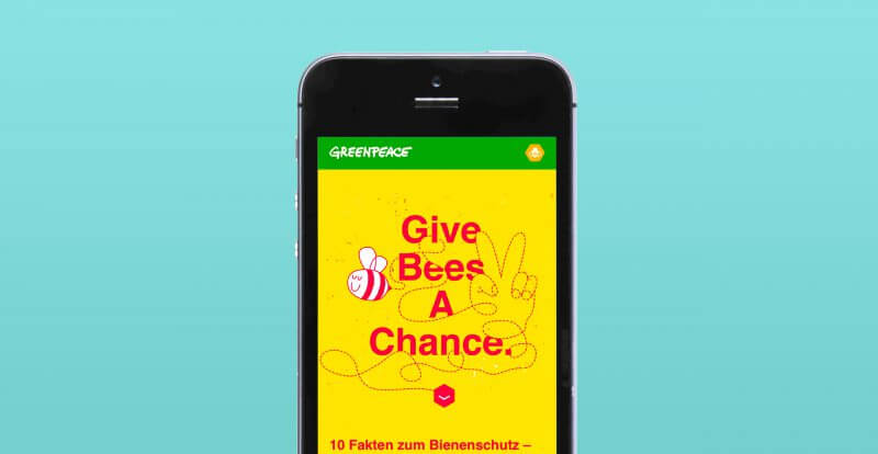 Greenpeace – Give Bees A Chance Website Mobile